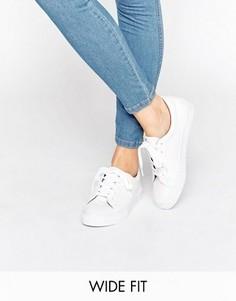 Кеды на шнуровке ASOS DIAZ - Белый