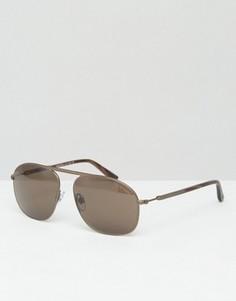 Солнцезащитные очки-авиаторы бронзового цвета Giorgio Armani - Золотой