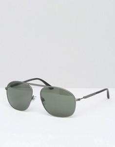 Солнцезащитные очки-авиаторы Giorgio Armani - Серебряный