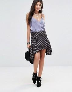 Асимметричная юбка Free People - Черный