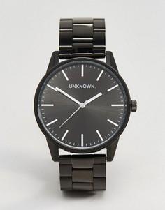 Классические черные часы-браслет 39 мм UNKNOWN - Черный