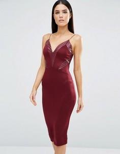 Платье миди на бретельках с V-образным вырезом AX Paris - Фиолетовый
