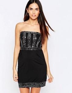 Платье бандо Pussycat London - Черный