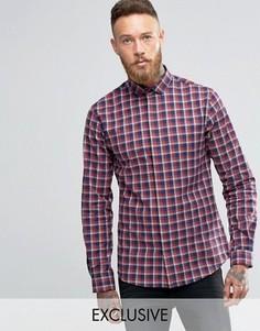 Рубашка с воротником с широко расставленными углами Heart & Dagger - Красный
