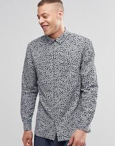 Рубашка с длинными рукавами и цветочным принтом Weekday - Черный