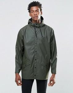 Короткая водонепроницаемая куртка Rains - Зеленый