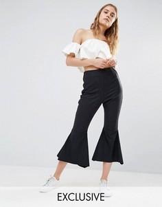 Укороченные брюки-клеш House Of Sunny - Черный