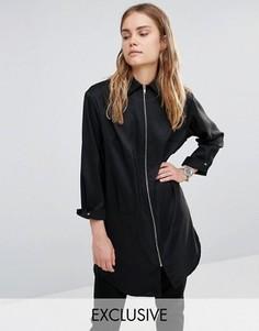Рубашка с молнией спереди House Of Sunny Essential - Черный