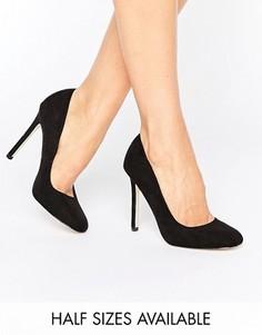 Туфли на высоком каблуке с квадратным носком ASOS PLAYTIME - Черный