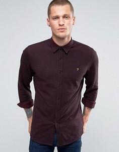 Рубашка зауженного кроя из хлопка пике Farah - Красный