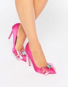 Декорированные туфли на высоком каблуке с острым носком ASOS PAYDAY - Розовый