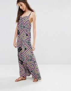 Платье макси с геометрическим принтом Diya - Мульти