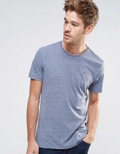 Меланжевая футболка с круглым вырезом Hilfiger Denim - Темно-синий