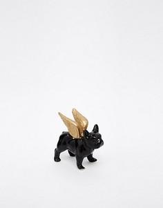 Подставка для украшений в виде бульдога с крыльями Sass & Belle - Черный