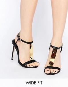 Босоножки на каблуке ASOS HASHTAG - Черный
