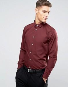 Бордовая рубашка классического кроя ASOS - Красный