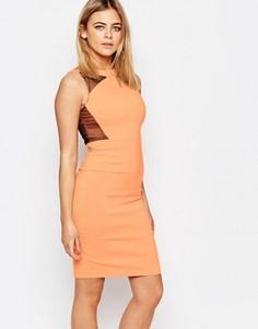 Платье-футляр с контрастными вставками Vesper Connie - Оранжевый