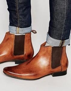 Светло-коричневые кожаные ботинки челси Frank Wright - Рыжий