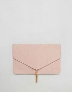 Клатч с кисточкой ASOS - Розовый