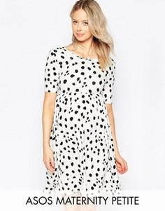 Леопардовое платье с короткими рукавами ASOS Maternity PETITE - Мульти