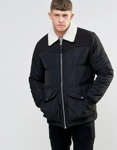 Куртка с воротником борг Bellfield - Черный