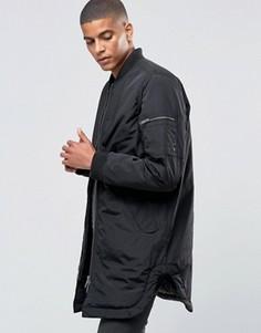 Легкая длинная куртка-пилот ADPT - Черный