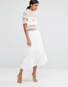 Прозрачная плиссированная юбка ASOS - Белый