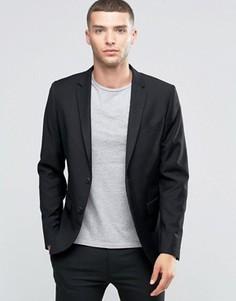 Однобортный пиджак слим Sisley - Черный