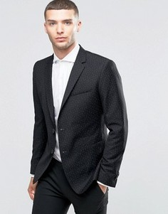 Пиджак зауженного кроя с принтом треугольников Sisley - Черный