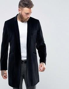Бархатное пальто в строгом стиле Hart Hollywood by Nick Hart - Черный