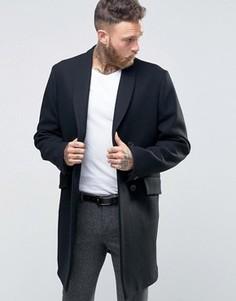Строгое пальто с шалевым воротником Hart Hollywood by Nick Hart DB - Темно-синий