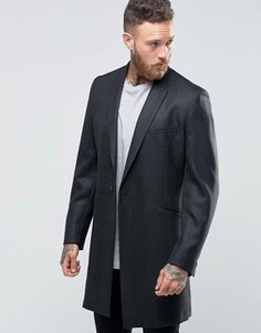 Фланелевое пальто в строгом стиле Hart Hollywood by Nick Hart - Серый