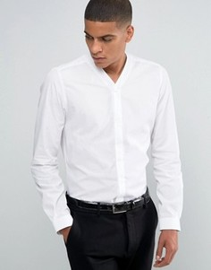Рубашка зауженного кроя с V‑образным вырезом Hart Hollywood by Nick Hart - Белый