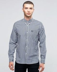 Рубашка слим с воротником на пуговицах Fred Perry Laurel Wreath - Темно-синий