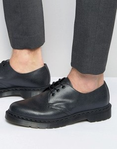 Туфли с 3 парами люверсов Dr Martens 1461 Pebble - Черный