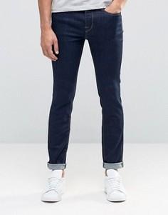 Зауженные джинсы суперстретч цвета индиго Selected Homme - Синий