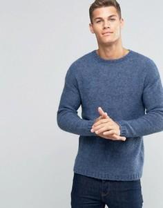 Чесаный джемпер с заниженной линией плеч United Colors of Benetton - Серый