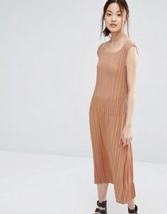 Платье в мелкую складку Zacro - Красный