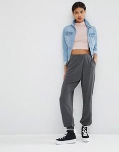 Трикотажные брюки-галифе с запахом ASOS - Серый
