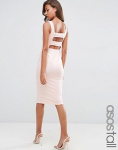 Облегающее платье миди ASOS TALL - Розовый