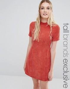 Фактурное платье‑футляр с высокой горловиной Fashion Union Tall - Красный