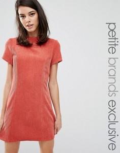 Фактурное платье‑футляр с высоким воротом Fashion Union Petite Kent - Красный
