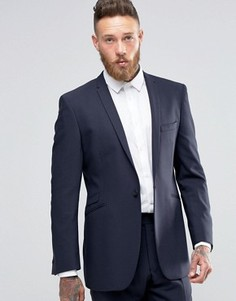 Фланелевый пиджак слим Hart Hollywood by Nick Hart - Темно-синий