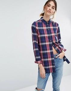 Рубашка в клетку Vero Moda - Темно-синий