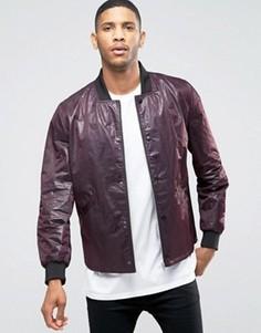 Легкая фактурная куртка‑пилот бордового цвета ASOS - Красный