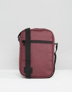 Бордовая сумка для авиапутешествий с нашивкой ASOS - Красный