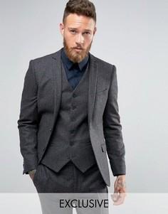 Облегающий пиджак в клетку Heart & Dagger - Серый