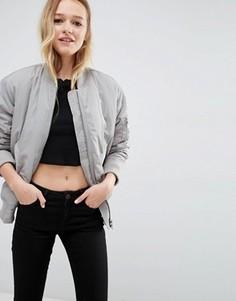 Уплотненная куртка‑пилот ASOS Luxe - Серый