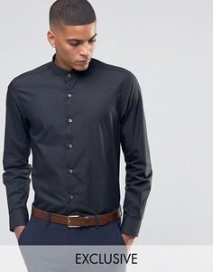Рубашка с воротником с застежкой на пуговицы Number Eight Savile Row - Черный