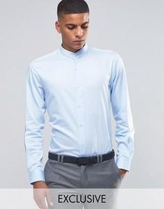 Рубашка скинни в полоску Number Eight Savile Row - Синий